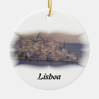 Lisbon prydnad julgransprydnad keramik