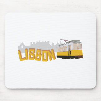 Lisbon spårvagn musmatta