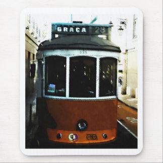 Lisbon spårvagncloseup musmatta