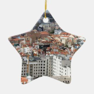 Lisbon stadshorisont julgransprydnad keramik