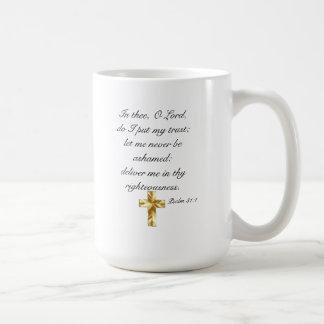 Lita på 31:1 för Lord Psalm muggen för 15 uns Kaffemugg