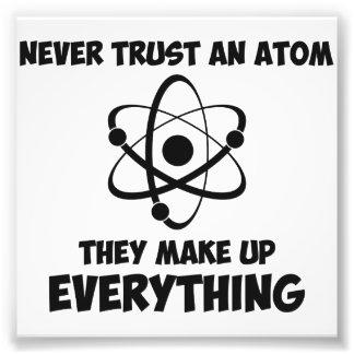 Lita på aldrig en Atom Fototryck