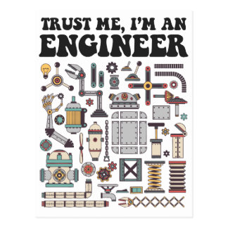 Lita på mig, I-förmiddag en ingenjör Vykort