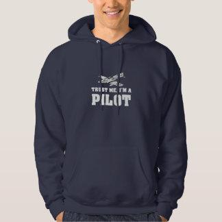 Lita på mig, I-förmiddag ett pilot- Sweatshirt Med Luva