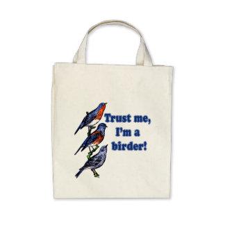 Lita på mig I-förmiddagen en Birder Tygkassar