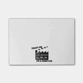 Lita på mig I-förmiddagen en direktörClapboard Post-it Lappar