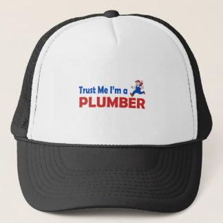 Lita på mig I-förmiddagen en rörmokare Truckerkeps