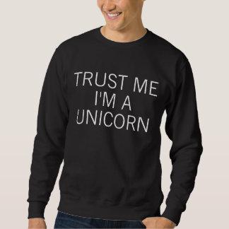 Lita på mig I-förmiddagen en Unicorn Lång Ärmad Tröja
