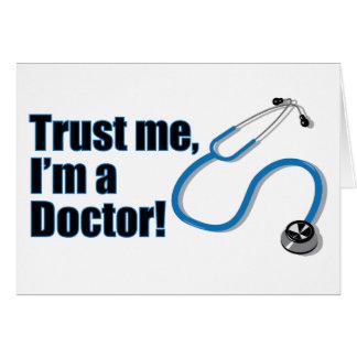 Lita på mig I-förmiddagen ett roligt hälsningkort Hälsningskort