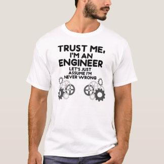 Lita på mig Im en ingenjör Tee Shirt