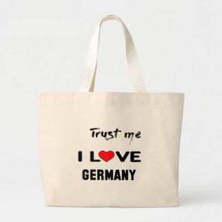 Lita på mig som jag älskar Germany. Jumbo Tygkasse