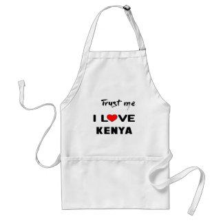 Lita på mig som jag älskar Kenya. Förkläde
