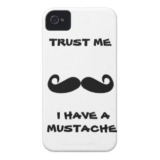 Lita på mig som jag har en MUSTASCH iPhone 4 Case-Mate Skydd