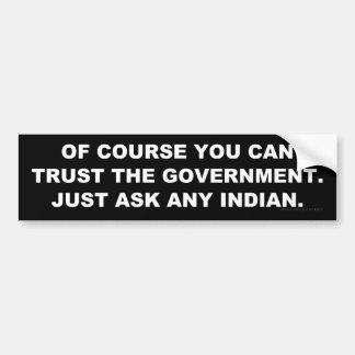 Lita på regeringen? bildekal
