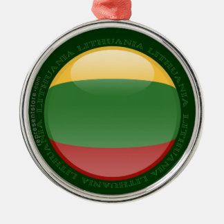 Litauen bubblar flagga julgransprydnad metall