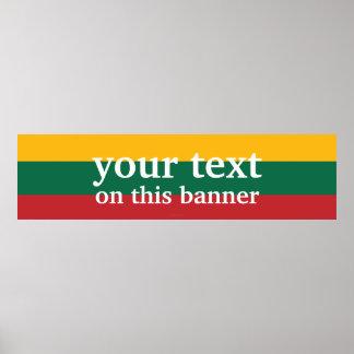 Litauen slättflagga poster