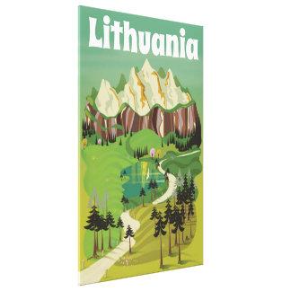 Litauen vintagestil reser affischen canvastryck