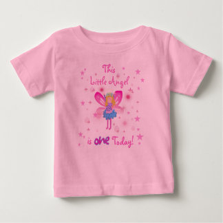 Lite 1st födelsedag för ängel tröjor