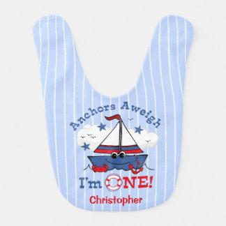 Lite 1st födelsedag för segelbåt