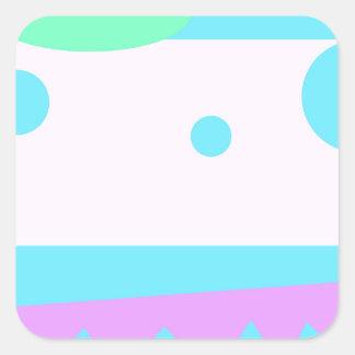 Lite abstrakt monster - fyrkantigt klistermärke