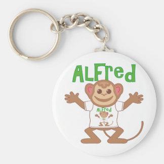 Lite apa Alfred Rund Nyckelring
