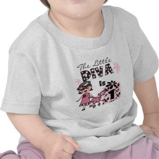 Lite är divaen 1 1st födelsedag Tshirts och gåvor