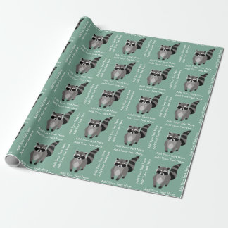 Lite beställnings- färg för RaccoonRascalpersonlig Presentpapper