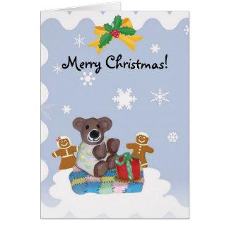 Lite björnjulkort hälsningskort