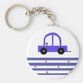 Lite blåttbil nyckelringar