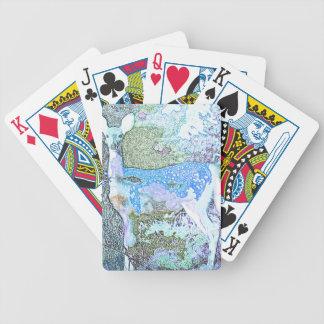 Lite blåtthjort spelkort
