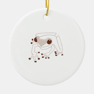 Lite brun groda julgransprydnad keramik