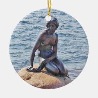 Lite cirklar sjöjungfruKöpenhamnen prydnaden Julgransprydnad Keramik