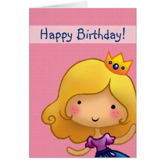 lite customisable födelsedagkort för princess hälsningskort