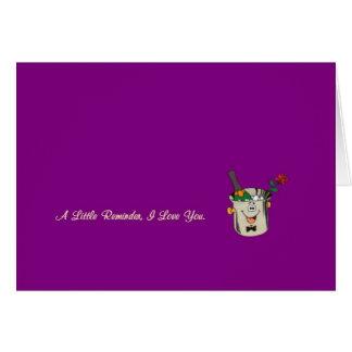 Lite en påminnelse, älskar jag dig kortet med cham hälsningskort