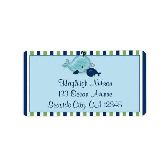 Lite etikett för adress för kyss för valbabymammor adressetikett