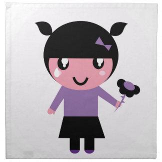 Lite flickalilor för stickreplik EMO Tygservett