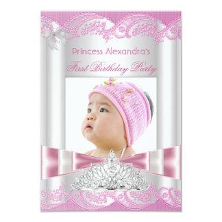 Lite födelsedagsfestfoto för Princess Flicka 8,9 X 12,7 Cm Inbjudningskort
