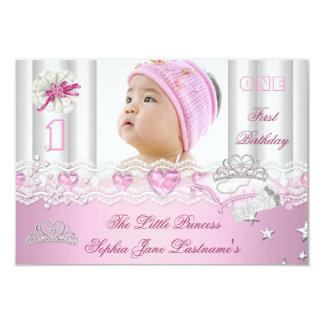 Lite födelsedagsfestfoto för Princess Första 8,9 X 12,7 Cm Inbjudningskort