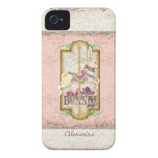 Lite för flickacirkus för kanin söt vintage för iPhone 4 cases