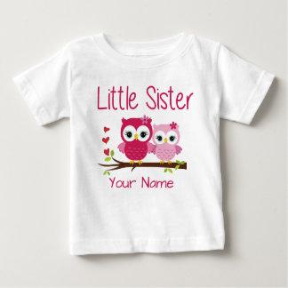 Lite för ugglapersonlig T för syster rosa skjorta Tröjor