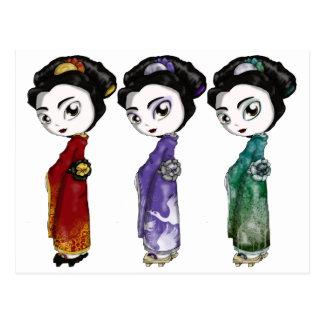 Lite Geisha Vykort