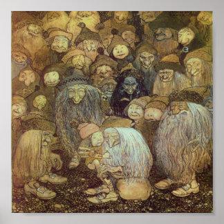 Lite Gnomepojke Print