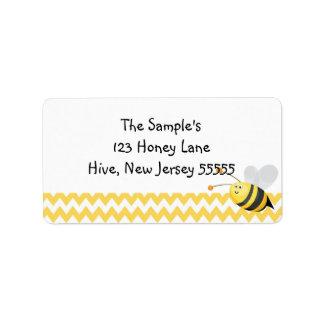 Lite honungetiketter adressetikett