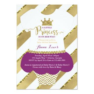 Lite inbjudan för Princess baby shower,