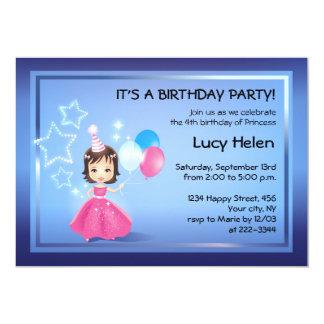 Lite inbjudan för Princess födelsedagsfest 12,7 X 17,8 Cm Inbjudningskort