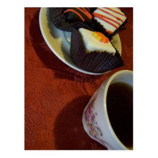 lite kaffe för tårtor n vykort