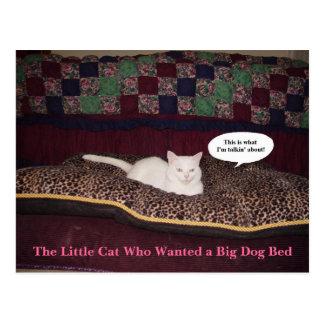 Lite katten som önskade en stor hundsäng vykort