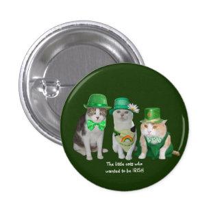 Lite katterna som önskade att vara irländska mini knapp rund 3.2 cm