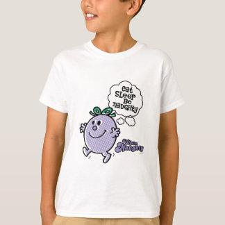 Lite kliver Fröcken naughtys tre planerar T-shirts