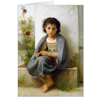 Lite knitteren - William-Adolphe Bouguereau Hälsningskort